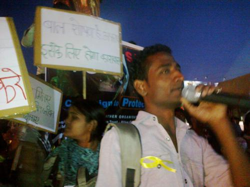 Protest against Child Abuse